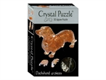 3D Crystal Puzzle - Dachshund-jigsaws-The Games Shop