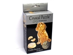 3D Crystal Puzzle - Golden Retriever-jigsaws-The Games Shop