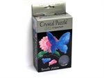 3D Crystal Puzzle - Blue Butterfly-jigsaws-The Games Shop