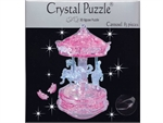 3d Crystal Puzzle - Pink Carousel-jigsaws-The Games Shop