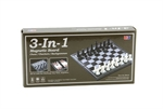 "3 in 1 Magnetic Chess Checkers Backgammon - 10""-travel games-The Games Shop"