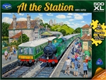 Holdson - 500 piece At the Station - Corfe Castle-jigsaws-The Games Shop