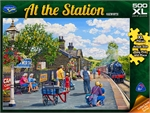 Holdson - 500 piece At the Station - Oakworth-jigsaws-The Games Shop