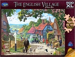Holdson - 500 piece The English Village - Village Bus-jigsaws-The Games Shop