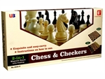 "Chess and Checkers - 12""  Magnetic-chess-The Games Shop"