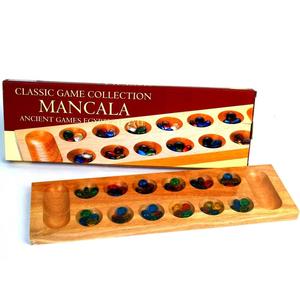 Mancala - Wood with Glass Beads